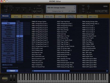 Korg Krome Sounds V1 Vintage Synths
